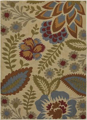 Mohawk Soho Crewel Floral Spice Beige/Tan
