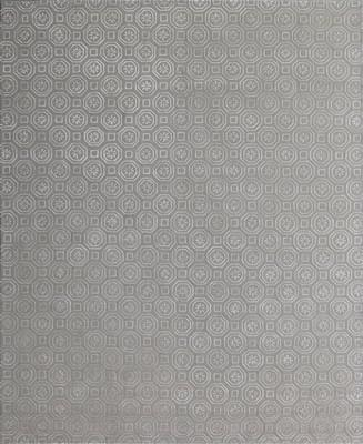 """Kally Nyerereite Kal-094-Nyer-pne Gray/Silver 3'6"""" X 5'6"""""""