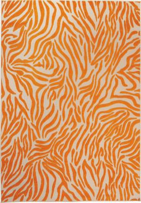 "Nourison Aloha ALH04 Orange/Rust 5'3"" X 7'5"""
