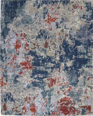 "Nourison Artworks ATW01 Blue/Navy 7'9""X9'9"""