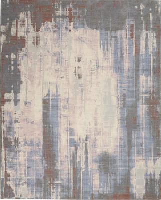 "Nourison Artworks ATW04 Gray/Silver 7'9""X9'9"""