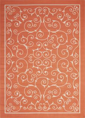 Nourison Home & Garden RS019 Orange/Rust