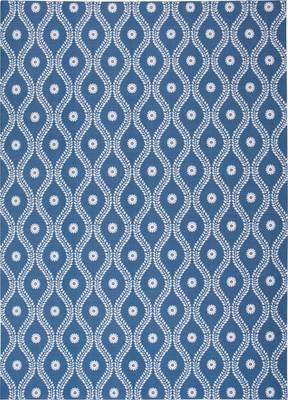 "Nourison Home & Garden RS085 Blue/Navy 7'9""X10'10"""