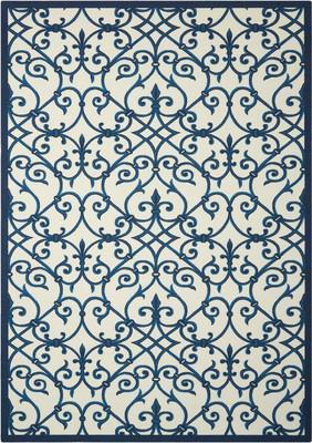 Nourison Home & Garden Rs093 Blue/Navy