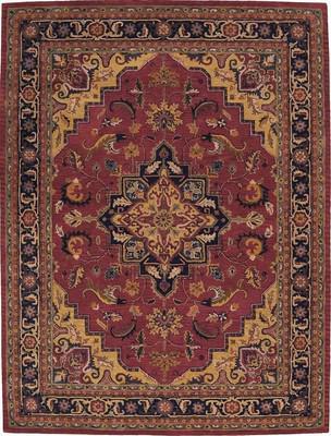 Nourison India House IH02 Red/Burgundy