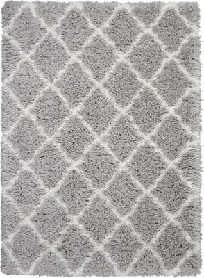 "Nourison Luxe Shag LXS02 Gray/Silver 8'2"" X 10'0"""