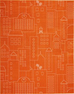 Nourison Miles DS202 Orange/Rust