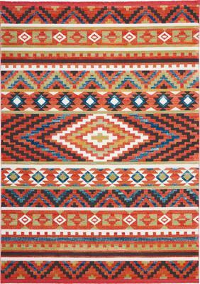 Nourison Navajo NAV04 Orange/Rust