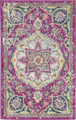 "Nourison Passion PSN22 Pink/Purple 1'10"" X 2'10"""