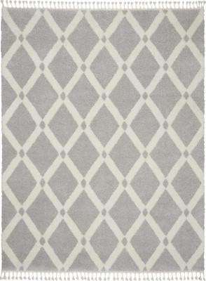 Nourison Serenity Shag SRS01 Gray/Silver