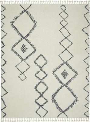 Nourison Serenity Shag SRS03 White/Ivory