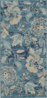 "Nourison Tranquil TRA02 Blue/Navy 2'0"" X 4'0"""