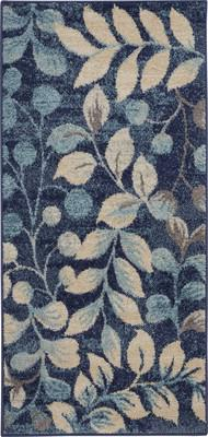 "Nourison Tranquil TRA03 Blue/Navy 2'0"" X 4'0"""