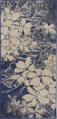"Nourison Tranquil TRA08 Blue/Navy 2'0"" X 4'0"""