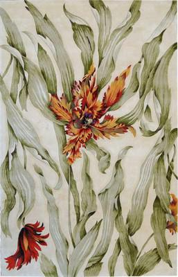 Nourison Tropics Ts01 White/Ivory