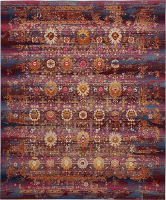 Nourison Vintage Kashan VKA03 Pink/Purple 7'10
