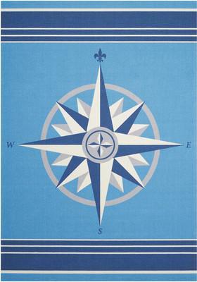 "Nourison Sun N' Shade SND45 Blue/Navy 7'9""X10'10"""