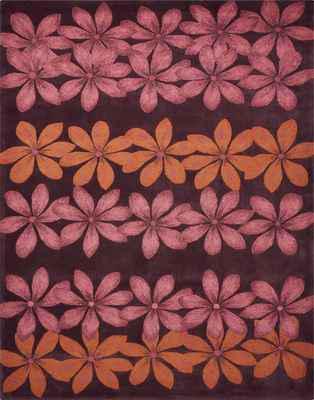 Nourison Contour CON16 Pink/Purple