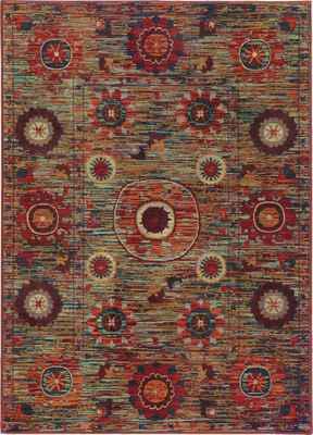 Oriental Weavers Sedona 6408K Orange/Rust